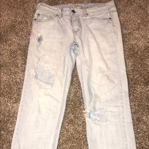 Aeropostale faded ripped boyfriend jeans